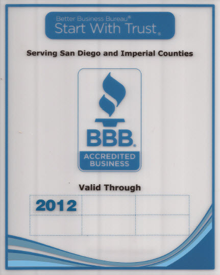 BBB Certificate Green Towing San Diego